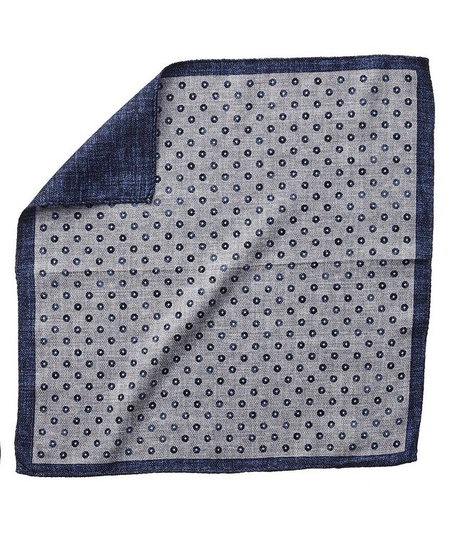 Reversible Printed Silk Pocket Square picture 1