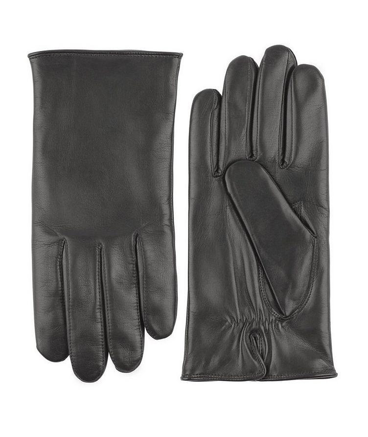 Hand Sewn Hair Sheep Leather Cashmere Gloves image 0
