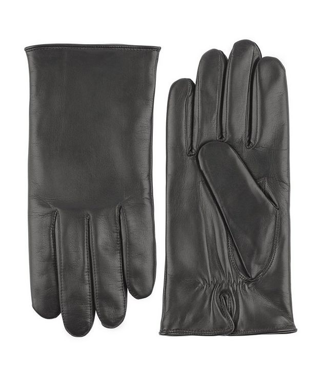 Hand Sewn Hair Sheep Leather Cashmere Gloves picture 1