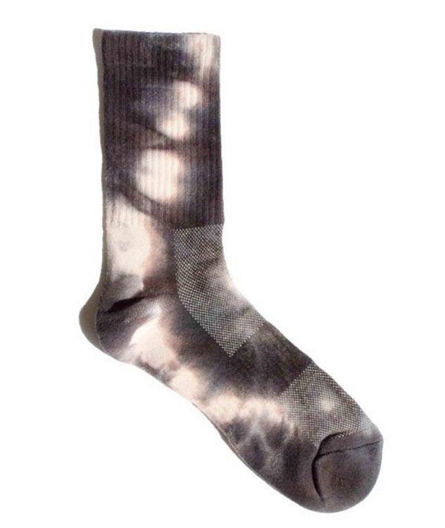 Tie-Dye Cotton-Blend Hi-Ankle Socks picture 1