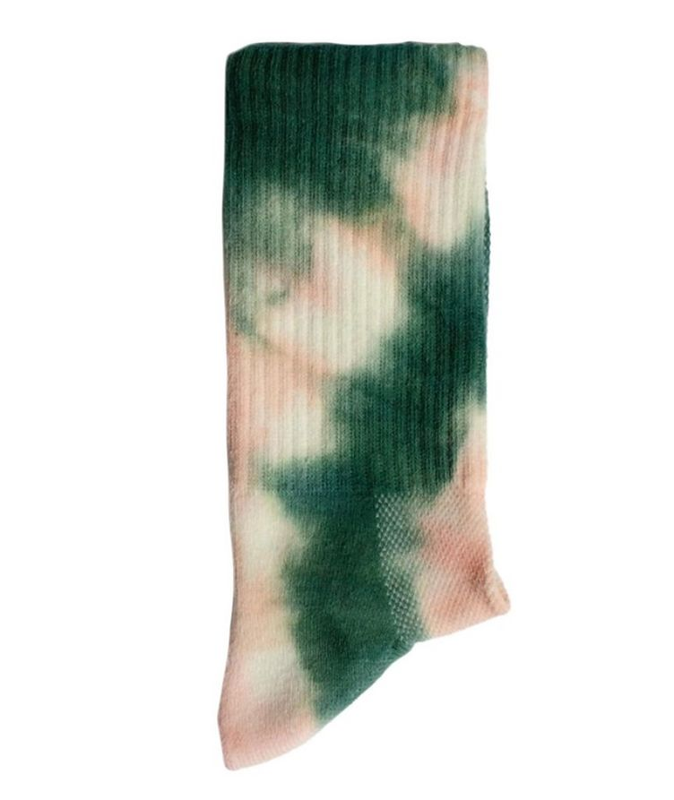 Tie-Dye Cotton-Blend Hi-Ankle Socks image 1