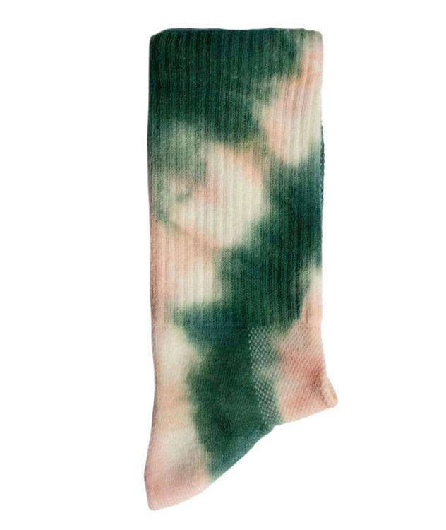 Tie-Dye Cotton-Blend Hi-Ankle Socks picture 2