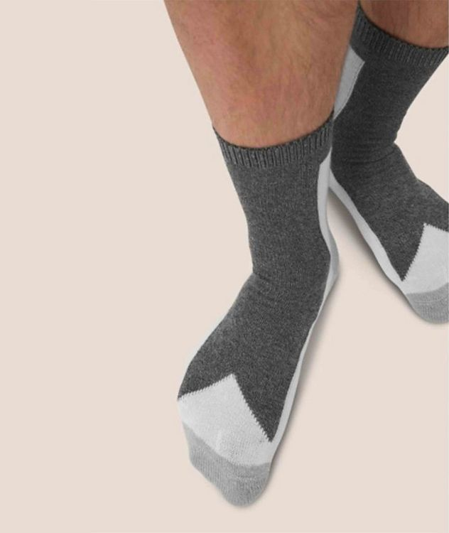 Stretch-Cotton Hi-Ankle Socks picture 3