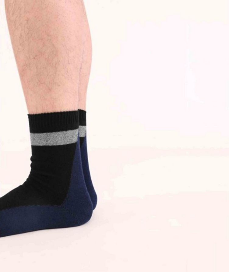 Stretch-Cotton Hi-Ankle Socks image 2