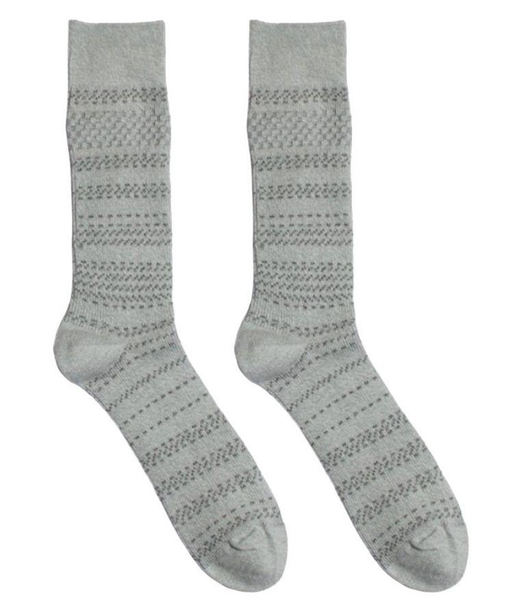Cotton-Blend Mid-Calf Socks image 0