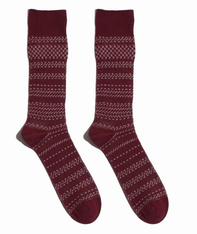 Cotton-Blend Mid-Calf Socks picture 1