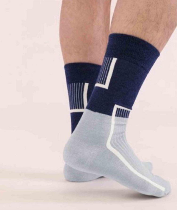 Cotton-Blend Mid-Calf Socks image 3