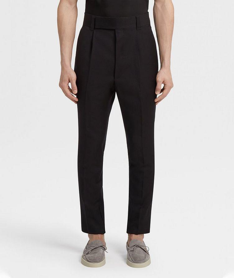 Pantalon en laine de coupe ajustée image 1