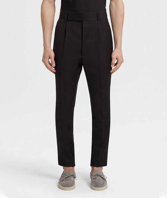 Pantalon en laine de coupe ajustée picture 2