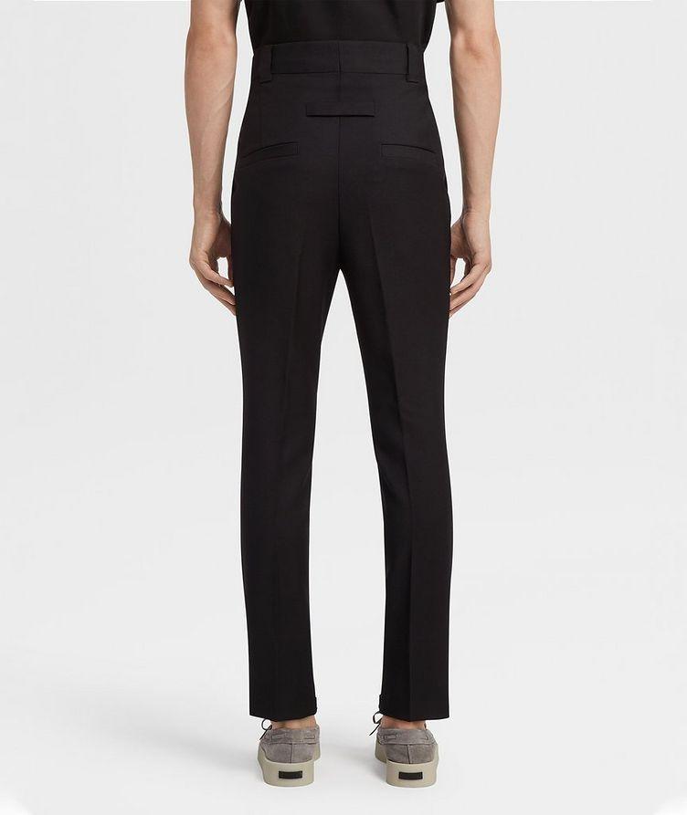 Pantalon en laine de coupe ajustée image 2