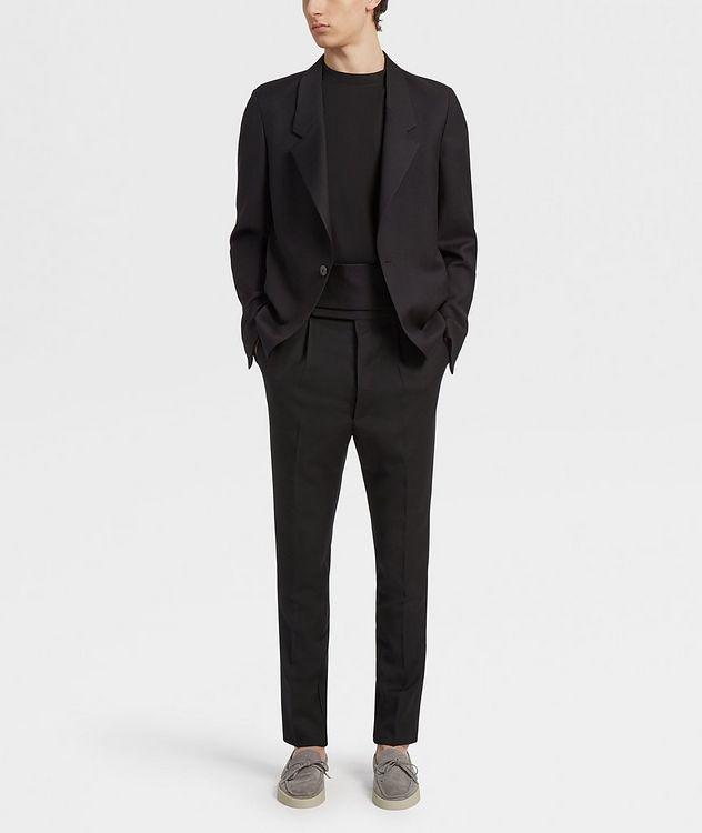 Pantalon en laine de coupe ajustée picture 5