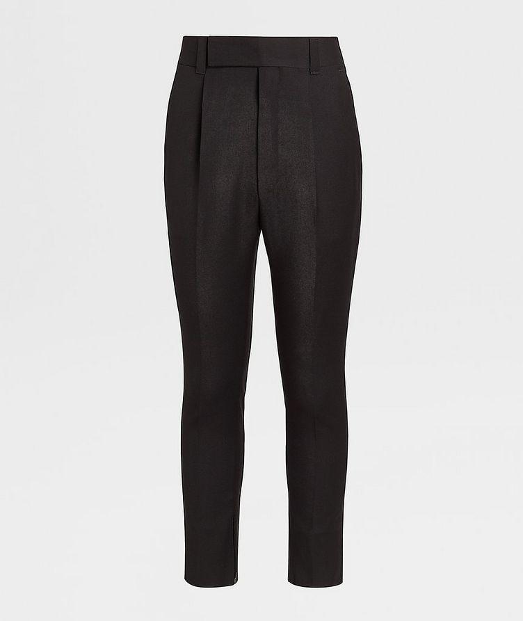 Pantalon en laine de coupe ajustée image 0