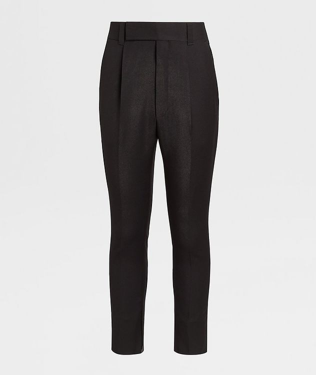 Pantalon en laine de coupe ajustée picture 1
