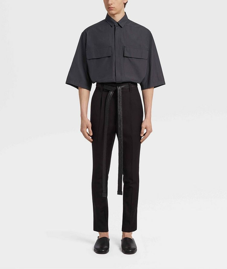 Short-Sleeve Oversized Cotton Shirt image 4