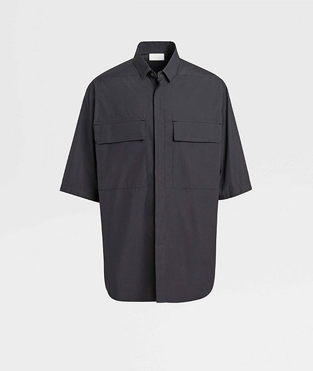 Short-Sleeve Oversized Cotton Shirt picture 1