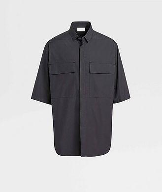 Fear of God Ermenegildo Zegna Short-Sleeve Oversized Cotton Shirt