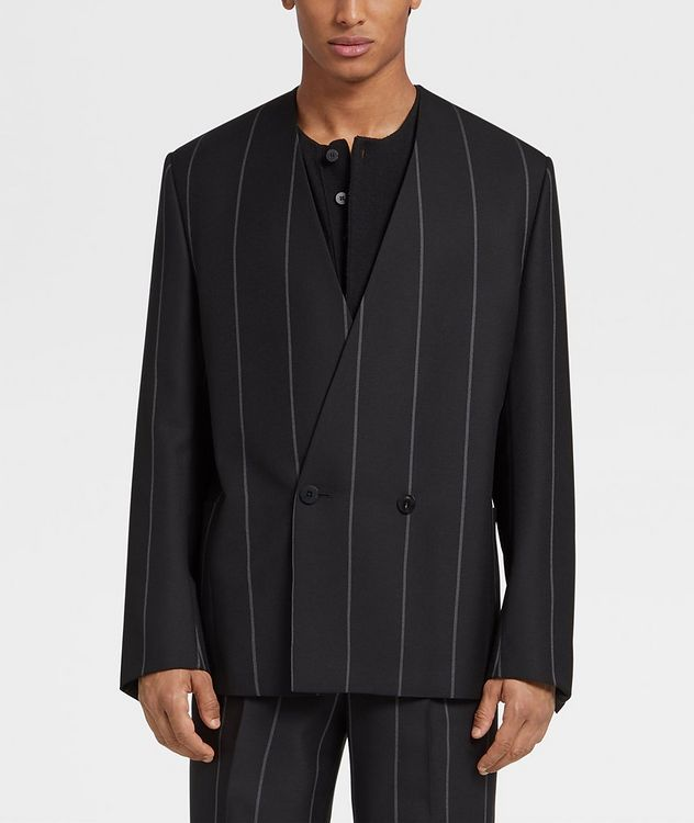 Striped Wool Sports Jacket picture 2
