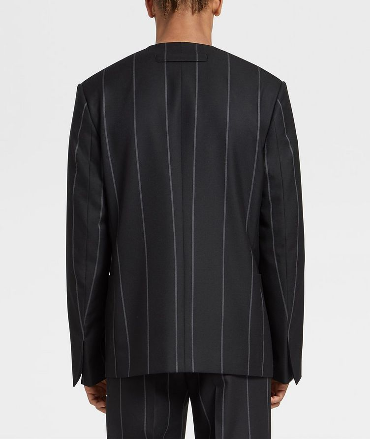 Striped Wool Sports Jacket image 2