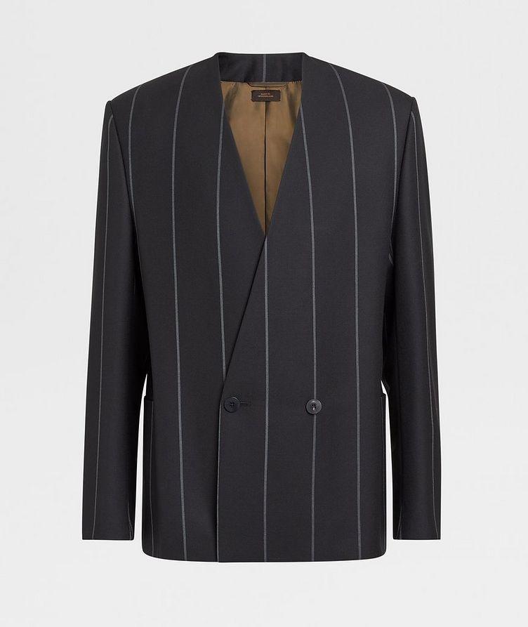 Striped Wool Sports Jacket image 0