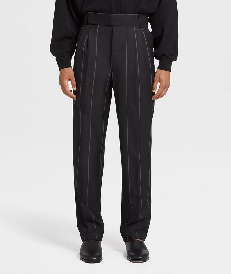 Pinstriped Dress Pants image 0