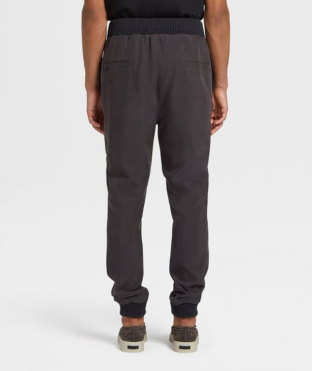 Silk Drawstring Joggers picture 3