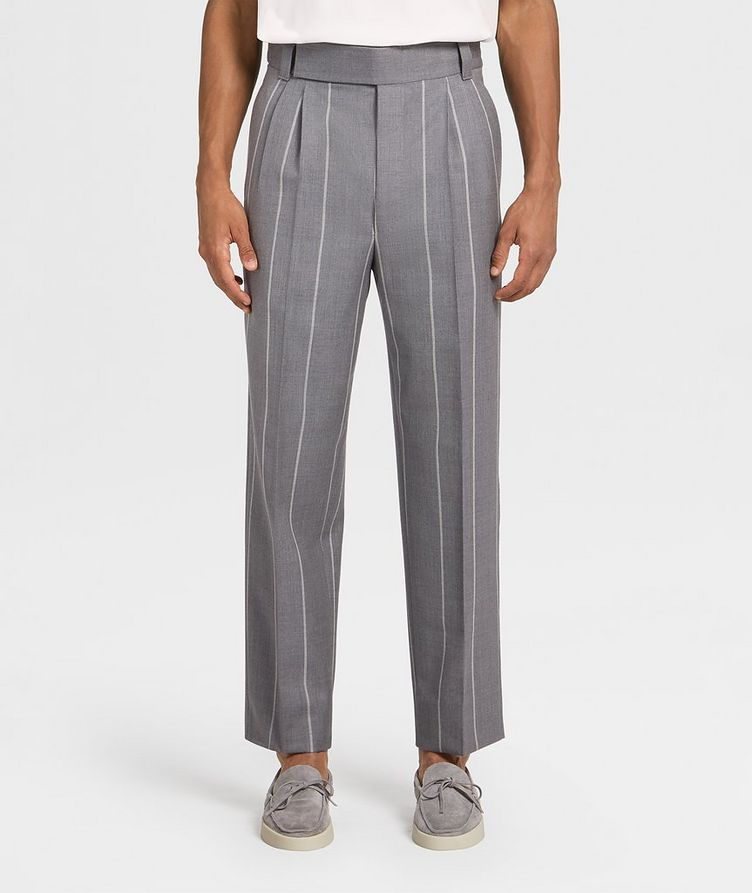 Pinstriped Dress Pants image 0