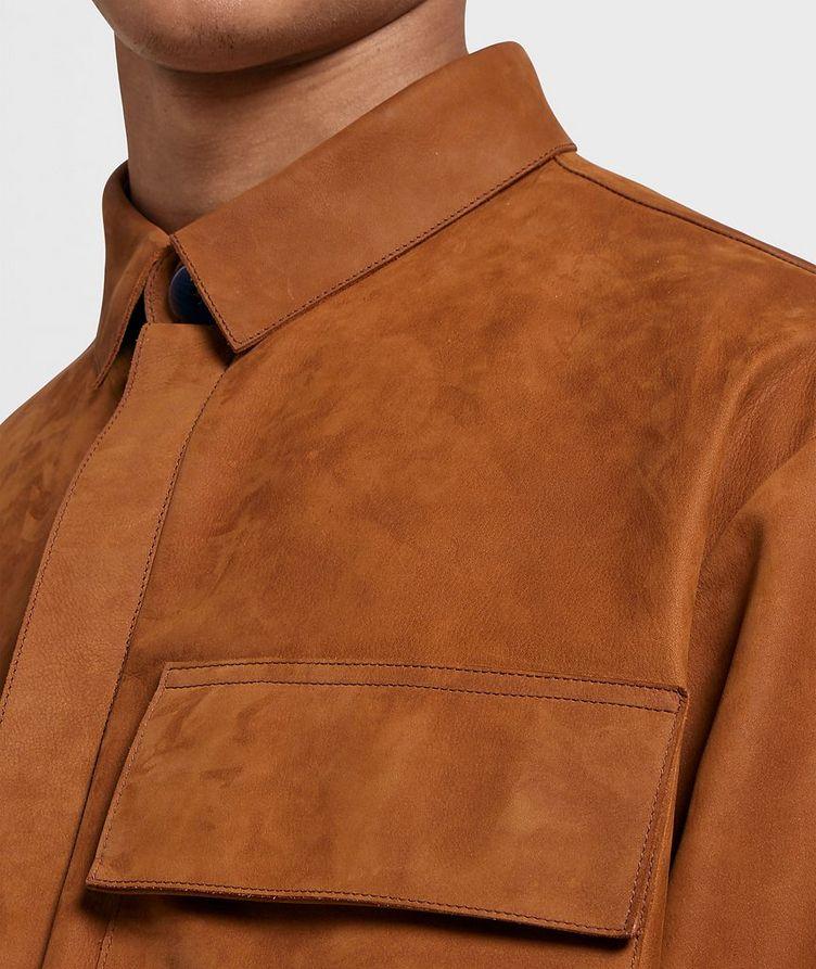 Oversized Suede Overshirt image 3