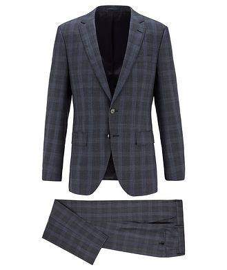 BOSS Complet Huge6/Genius5 en laine à carreaux prince-de-Galles