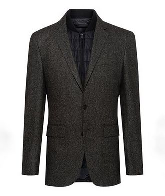BOSS Hadik2 Speckled Wool-Blend Sports Jacket