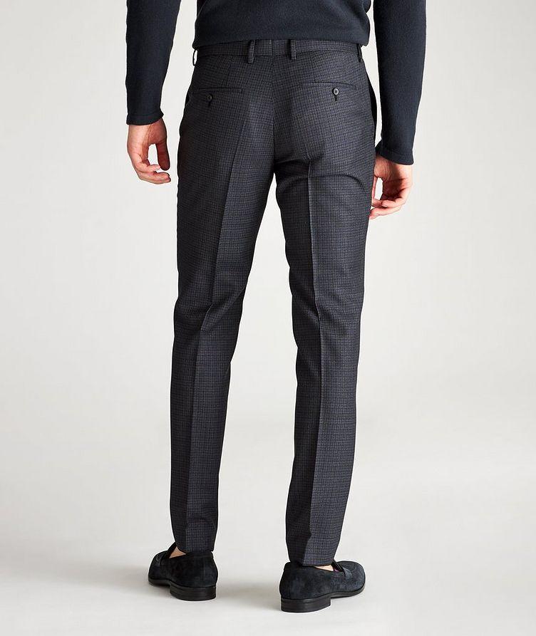Pantalon habillé Ben2 en laine à motif quadrillé de coupe amincie image 1