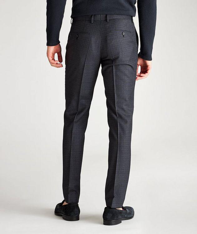 Pantalon habillé Ben2 en laine à motif quadrillé de coupe amincie picture 2