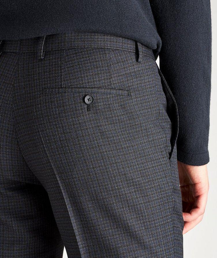 Pantalon habillé Ben2 en laine à motif quadrillé de coupe amincie image 2