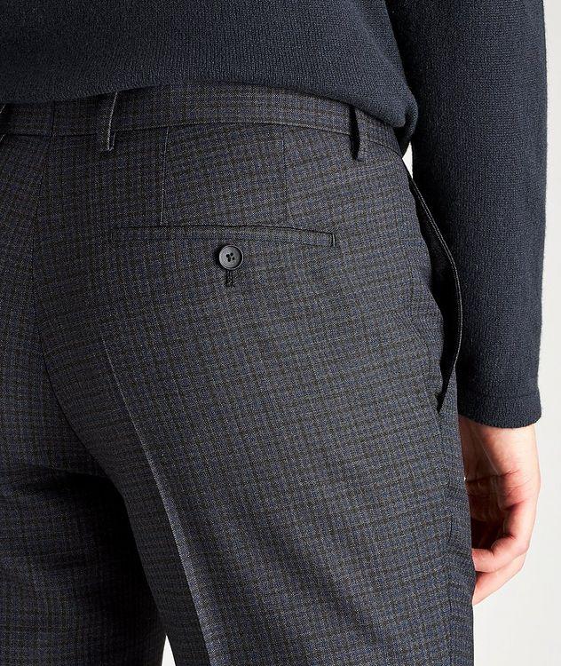 Pantalon habillé Ben2 en laine à motif quadrillé de coupe amincie picture 3