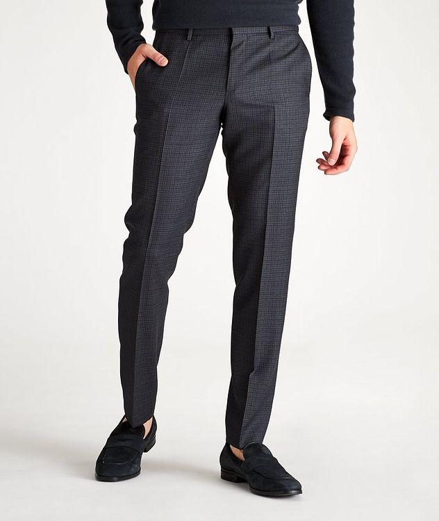 Pantalon habillé Ben2 en laine à motif quadrillé de coupe amincie picture 1