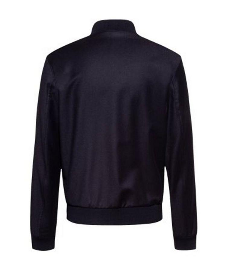 Slim Fit Wool Bomber Jacket image 1