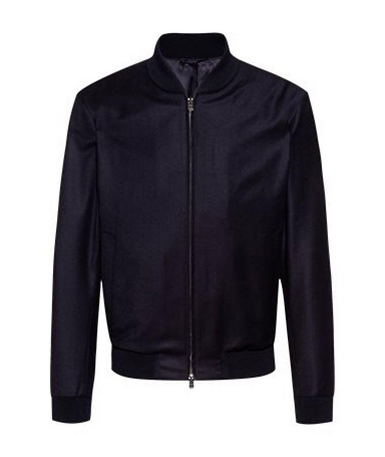 Slim Fit Wool Bomber Jacket image 0