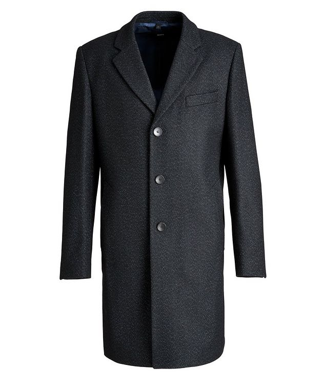 Nye2 Slim-Fit Wool-Blend Coat picture 1