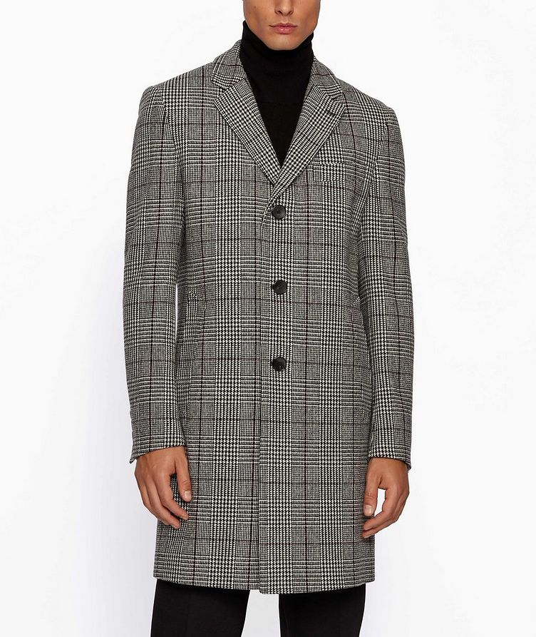 Glen Check Wool Coat image 1