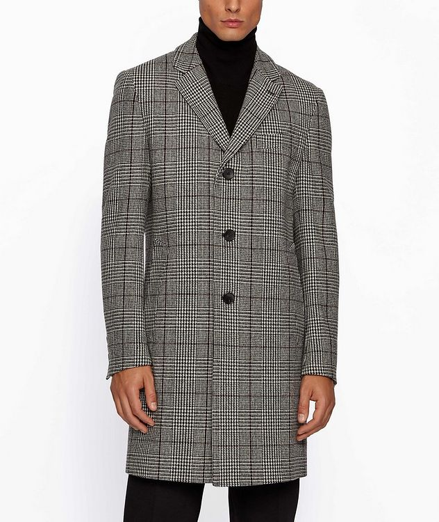 Glen Check Wool Coat picture 2