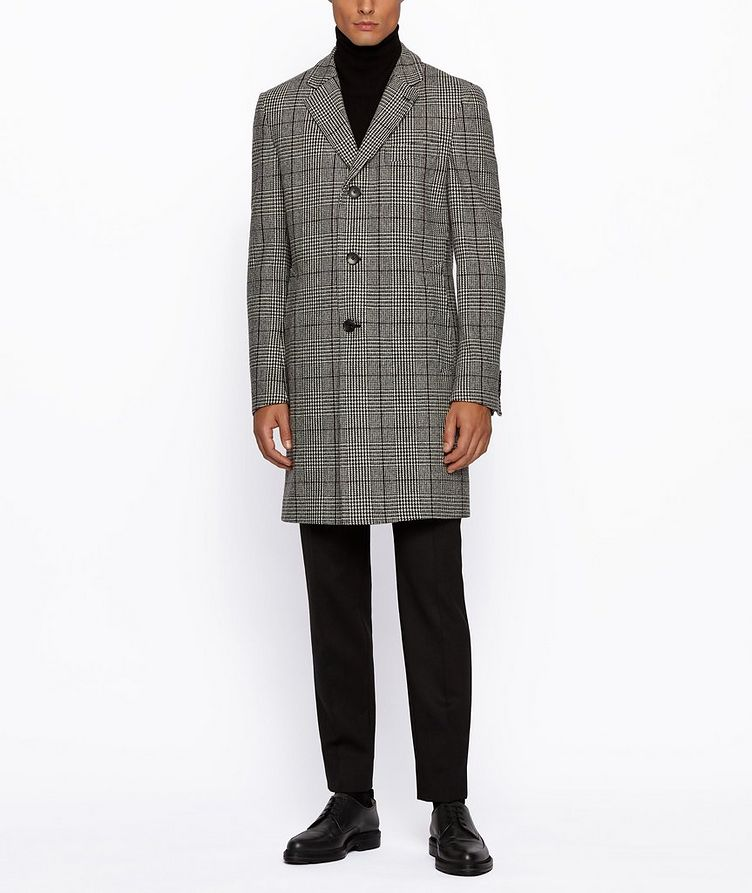 Glen Check Wool Coat image 5