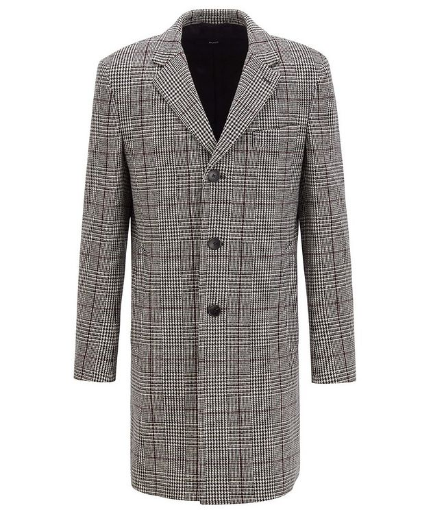 Glen Check Wool Coat picture 1