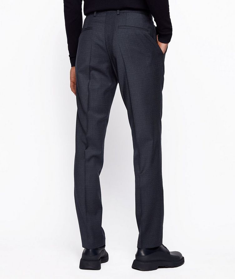Slim Fit Checkered Stretch Wool Trousers image 2