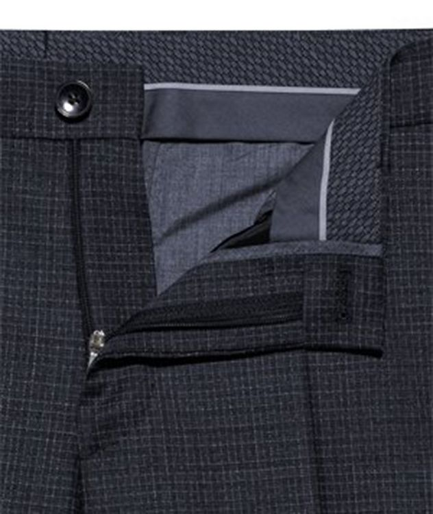 Slim Fit Checkered Stretch Wool Trousers picture 5