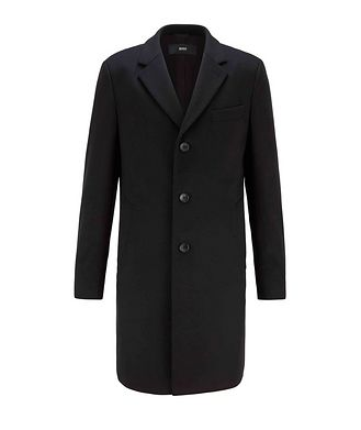 BOSS Slim Wool-Cashmere Overcoat