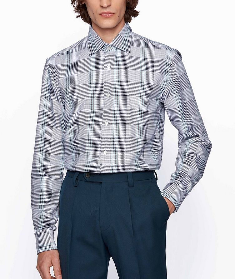 Slim Fit Glen Check Cotton Shirt image 1