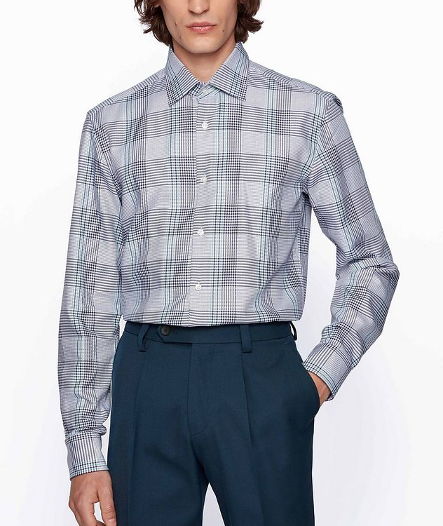 Slim Fit Glen Check Cotton Shirt picture 2