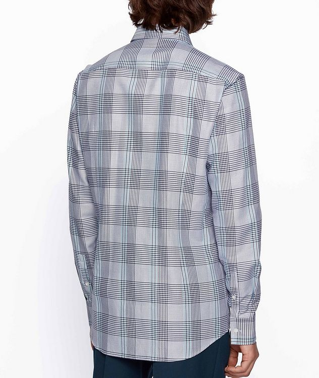 Slim Fit Glen Check Cotton Shirt picture 3