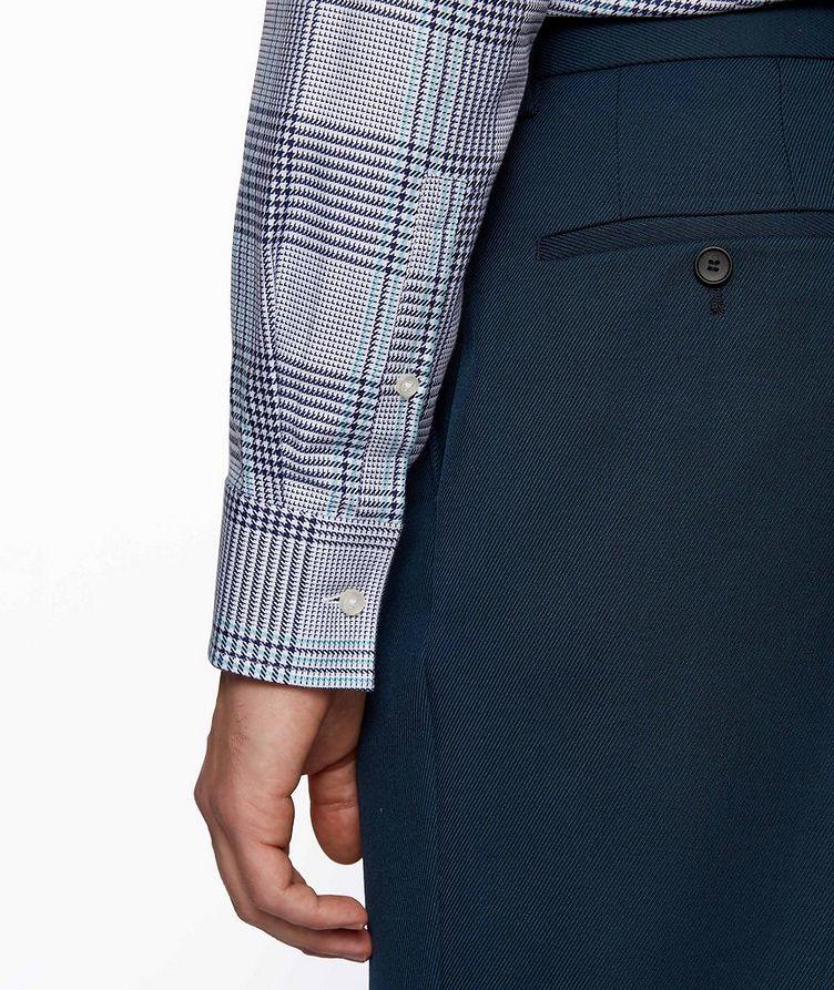 Slim Fit Glen Check Cotton Shirt image 3