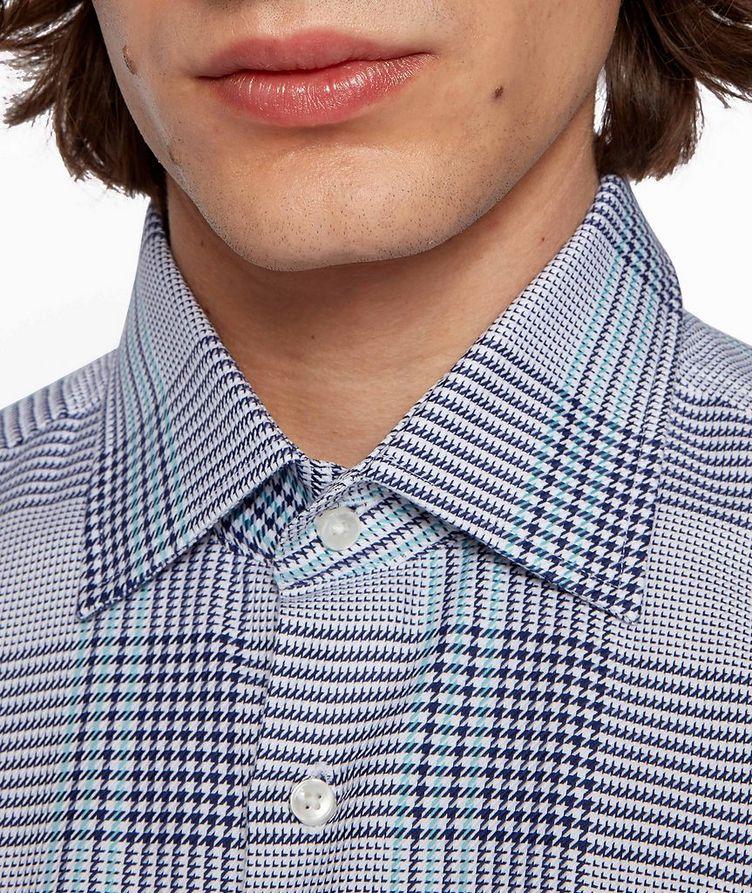 Slim Fit Glen Check Cotton Shirt image 4