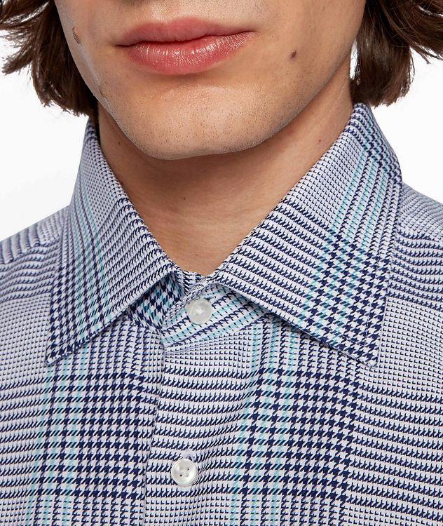 Slim Fit Glen Check Cotton Shirt picture 5